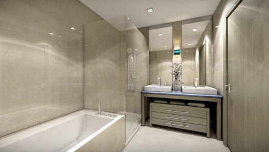 1100 millecento downtown miami condos brickell area pre for Bathroom finishes
