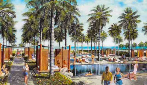 The Setai Pool - Rendering