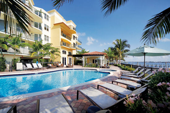 The Resort Style Pool And Sun Deck Overlook Intracoastal Waterway