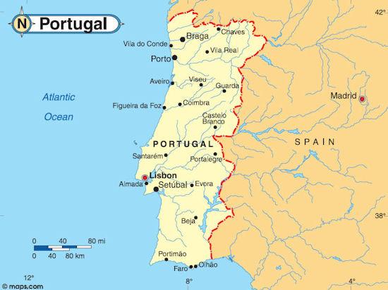 Longevity Wellness Resort Monchique Portugal Condo Hotel - Portugal map north
