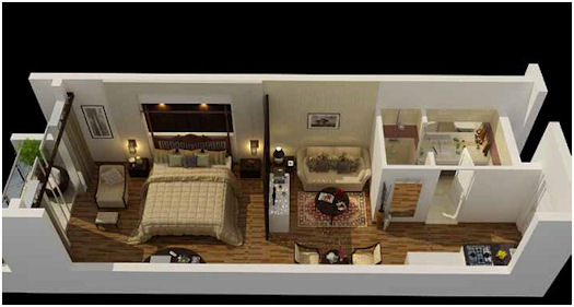 rhythm residences condo hotel in india from 147 000