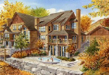 The Owners' Lodge will serve as the resort's central gathering place. (Artist's rendering.)